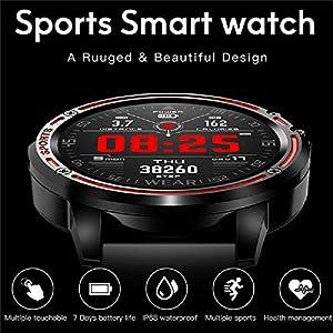 WAZA Smartwatch Reloj Inteligente Digital Deportivo Impermeable con Podómetro Multi-Touch Pulsómetro en Tiempo Real Pulsera Actividad para Fitness para Hombre Mujer Niños (Amarillo)