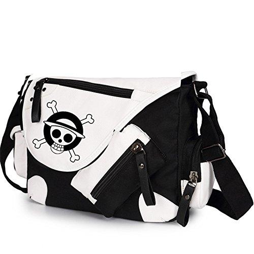 Siawasey, Handtasche / Umhängetasche / Messenger Bag, Motiv: japanischer Anime / Cosplay schwarz One Piece14