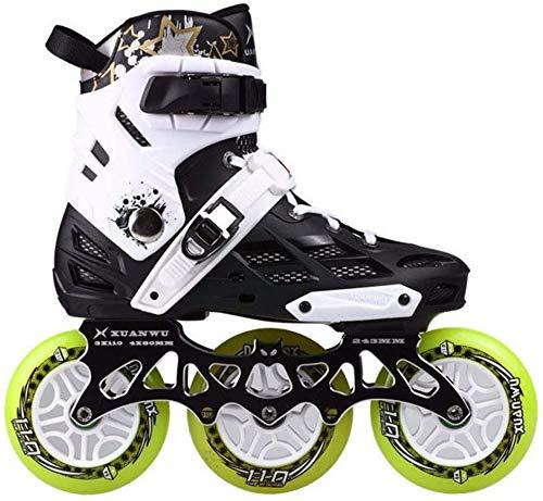 Roller Blades Inline-Skate Roller mit veränderbarer Länge und Blitzen leuchten Rad mit Safe Lock Straps Veränderbare Slalom Geschwindigkeit for Anfänger und Fortgeschrittene ( Color : C , Size : 36 )
