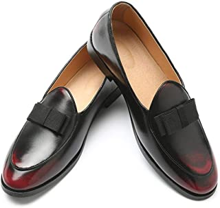 LUKEEXIN Men's Shoes, Bow, Men's Shoes, Loafers