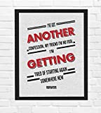 """Foo Fighters-""""Best of You""""-Song Lyrics Wall Art- 8 x 10' Typographic Music Poster Print-Ready to Frame. Modern Home-Office-Studio-Bar Décor. Perfect Grunge Gift for All Rock Music & Foo Fans!"""
