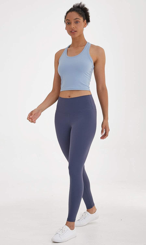 Lavento Womens Racerback Crop Tank Workout Running Yoga Tops