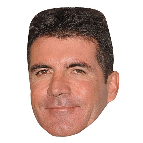 Simon Cowell Celebrity Mask, Card Face and Fancy Dress Mask