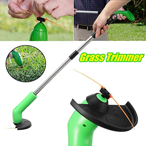 Purchase LQYGM Retractable Grass Trimmer Cutter Lawn Mower Cordless Lawnmower WeedRemover Edging Tie...