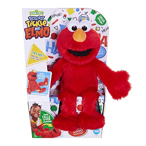 Sesame Street Tickliest Tickle Me Elmo Laughing, Talking, 14-Inch Plush Toy for Toddlers, Kids 18 Months & Up