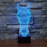 Cabeza de Caballo Color luz visión luz Nocturna Reloj táctil para niños bebé Dormir luz Nocturna