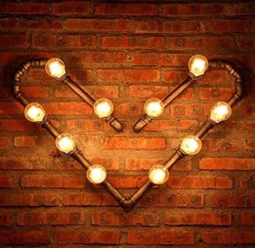 LWX Estilo Industrial De La Vendimia De Steampunk Lámpara De Pared del Tubo De Agua Lámpara De Pared Creativa 10 Flammig Forjado Rústico Hierro Metal Cuerpo De La Lámpara, del Café, Una