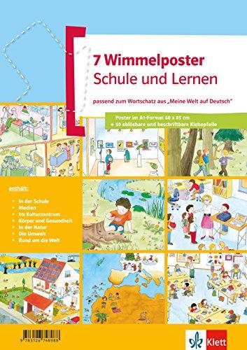 Wimmelposter Schule und Lernen: passend zum Wortschatz aus