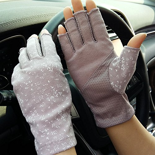 Damen Herren Baumwollhandschuhe Fingerlose Handschuhe rutschfeste Fahrradhandschuhe Sonnenschutz Halbfinger Fäustlinge Laufhandschuhe für Autofahren Motorrad Fahrrad Sport Camping Wandern Outdoor