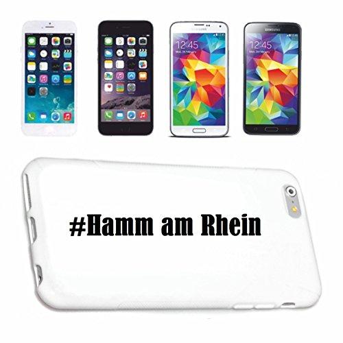 Reifen-Markt Handyhülle kompatibel für iPhone 5C Hashtag #Hamm am Rhein im Social Network Design Hardcase Schutzhülle Handy Cover Smart Cover