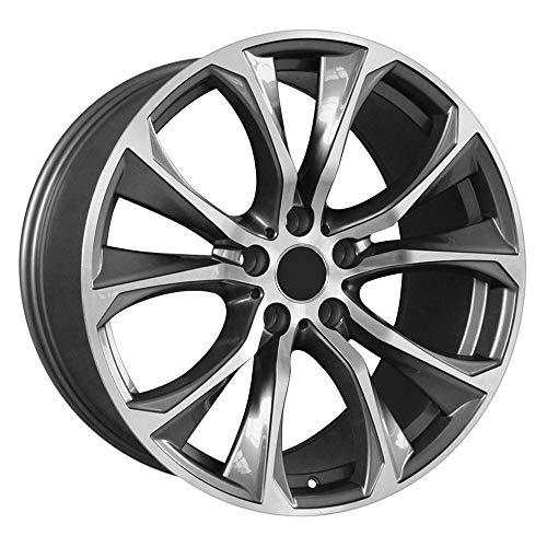 CONRAL 20 Inches Plata Mate 10 radios Wishbone Aleación de Aluminio Casting Wheel Hub Ruedas Llanta para BMW X5 X6 SUV