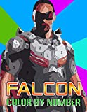 Falcon Color By Number: Sam Wilson Falcon Redwing Superhero Character Marvel Comic Illustration Color Number Book For Fans Adults Creativity Gift.