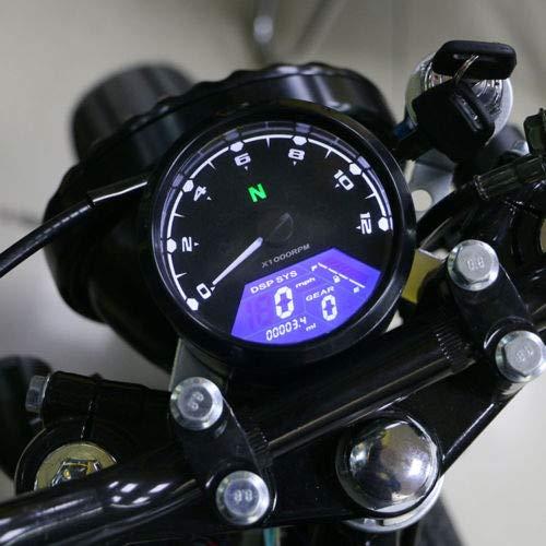 XuBa - Velocímetro de señal LCD universal para motocicleta