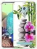 Sunrive Kompatibel mit Asus Zenfone Selfie ZD551KL Hülle Silikon, Transparent Handyhülle Schutzhülle Etui Hülle (X Blume)+Gratis Universal Eingabestift MEHRWEG