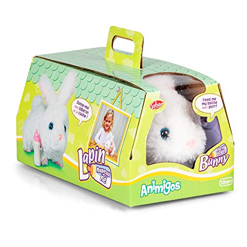 Tobar- New Born Bunny Lapin Peluche Animado, Color Blanco (36411)