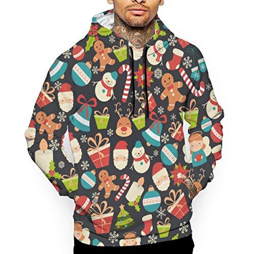 Weihnachten Weihnachten Seamless Image Mode Männer Baumwolle Athletic Hoodies Winter Fleece Sport Sweatshirt Pullover