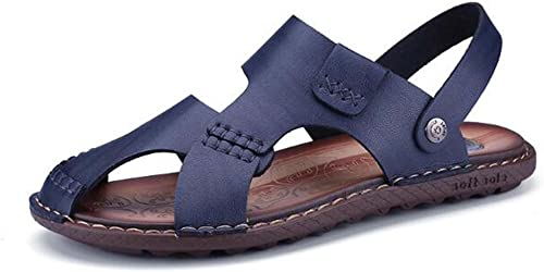 MYI Sandales pour Hommes Casual Outdoor Comfort Sandales Bureau et Carrière extérieure Bleu Marron Taille 38-44