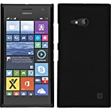 PhoneNatic Case kompatibel mit Nokia Lumia 730 - Hülle schwarz gummiert Hard-case + 2 Schutzfolien