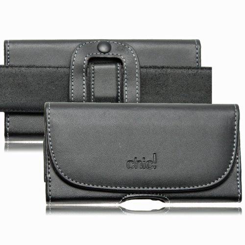 Starbarry Premium Gürteltasche Chic für Sony Xperia Z5 / Z3 Plus / Z3 / Z2 / Z1 Handytasche Seitentasche Quertasche Ledertasche Trageclip Handy Tasche Schutzhülle