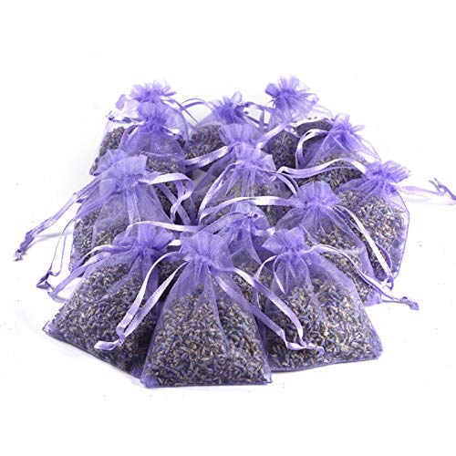 YUNXIAN Bolsitas de bolsitas de Lavanda brotes de Lavanda púrpura para cajones y armarios Aromas Frescos Desodorante Natural bolsitas de Desodorante de Aroma a Lavanda Fresca Paquete de 15 for Sale