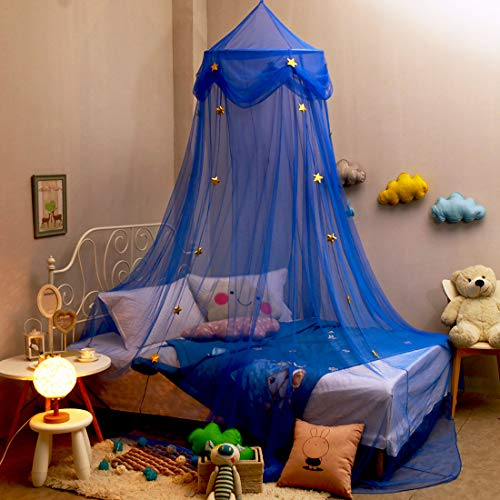 Extra Large Kids Bed Canopy for Girls Boys Bedroom, Mosquito Netting for Nursery Crib, Hanging Canopy for Reading Corner, Play Tent Canopy for Girls Bed Room Decor