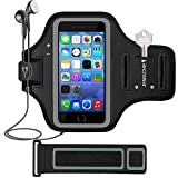iPhone SE (2016) 5S 5 Armband, JEMACHE Gym Running Exercise Workout Sport Arm Band Case for iPhone 5 5S SE (4.0') with Card Holder (Black)