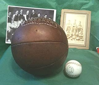 Past Time Sports Antique Basketball 1920 Laced - March Madness Relic