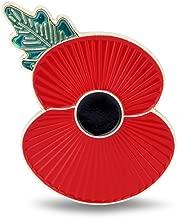 The Royal British Legion Magnetic Ridge Poppy Lapel Badge