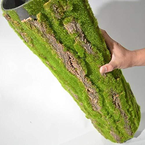 U/D HLIAN Simulación Secos Falso Pino Corteza de árbol Artificial Musgo Planta de Vid de Las Flores de Agua Cubierta Pilar Cubierta Wrap DIY de la Pared Verde (Color : Verde, Size : 50x50cm)