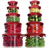 Lockcoo Set di Contenitori per Alimenti Senza BPA, 10 Pezzi Contenitori Rotondi in Plastic...