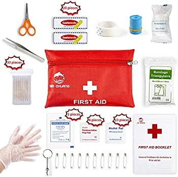 QIO CHUANG 87 Piece Small Travel First Aid Kit