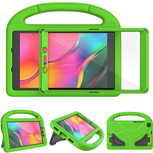 TIRIN Kids Case for Samsung Galaxy Tab A 8.0 2019 Without S Pen Model(SM-T290/SM-T295), Built-in Screen Protector Shockproof Light Weight Handle Stand Case for Galaxy Tab A 8.0 Inch 2019 - Green
