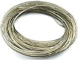KOMBI Cuerda de acero latón 4 mm x 20 m revestida plastificada carga cable tendedero cuerda acero latón lona valla