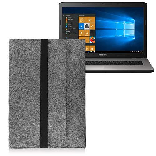 Tasche Sleeve Hülle für Medion Akoya E7424 E7420 Notebook Filz Grau Cover Case
