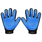 N-A - Guante de aseo para mascotas (silicona), diseño de cabeza suave, transpirable, malla para masaje y depilación, color azul