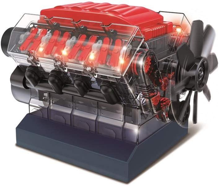 OWI Robotics Vroom! Stem V8 Model Combustion Engine, Multi