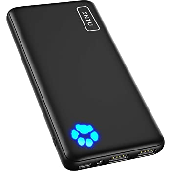 INIU Portable Charger, USB C Slimmest & Lightest Triple 3A High-Speed 10000mAh Power Bank, Flashlight Battery Pack Compatible with iPhone 12 11 X 8 Plus Samsung S20 Google LG iPad etc. [2021 Version]