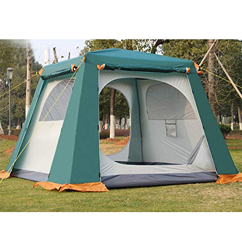 Forall-Ms 2×2m Pop Up Outdoor Tents 4-6 Man Waterproof Double Layer Canopy,Garden Gazebo Instant Tent Camping Sun Shelter for All Seasons,Green
