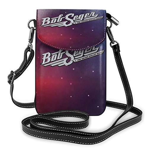 Bob Seger - Bolso de cuero ligero para teléfono celular, pequeño bolso bandolera para teléfono celular