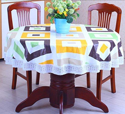 PVC Epaississant Nappe ronde Etanche et sans huile plastique Anti-chaud Multi-usage Multi-taille , 8 , table cloth diameter 180cm