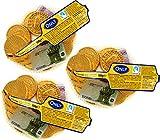 Only Schokoladengeld | Goldmünzen und Geldscheine aus Schokolade | 3x100g