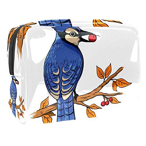 Kulturtasche Zweig Vogelfutter Kulturbeutel für Damen Herren Kinder Bunt Kosmetiktasche Waschtasche für Männer Frauen Waschbeutel in Premium-Qualität 18.5x7.5x13cm