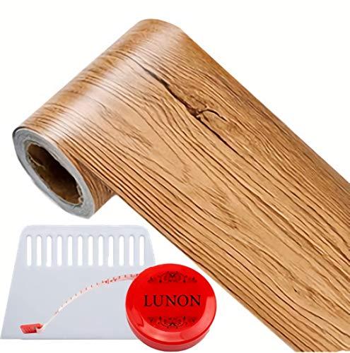 補修 リメイクシート トリムボーダー 木目 ナチュラルブラウン 窓枠 扉 ドア 木枠 修理 10cm × 5M 壁紙 シール 幅広 マスキングテープ 補修テープ