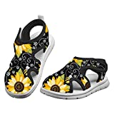 Boys Girls Sunshine Sunflower & Bee Water Shoes for Beach, Swim, Pool, Water Park for Toddler/Little Kid