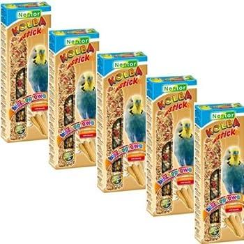 Nestor Lot de 5 paquets de 2 bâtonnets de grignotage pour perruches avec biscuit