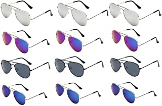WODISON Classic Kids Aviator Sunglasses Bulk Metal Frame...