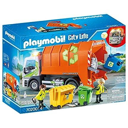 PLAYMOBIL City Life Camión de Reciclaje, A partir de 4 años (70200), talla única