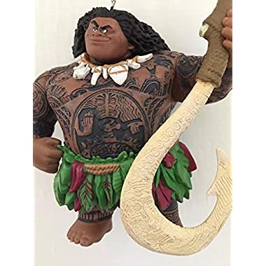 Disney Moana Maui Demigod Holiday Christmas Tree Ornament PVC Figure 4.5  Figurine