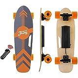 Tooluck Skateboard Eléctrico, Patineta eléctrica con Control Remoto, 20 KM/H, Motor único de 350W Longboard eléctrico, monopatín eléctrico de Arce de 7 Capas para Adolescentes y Adultos