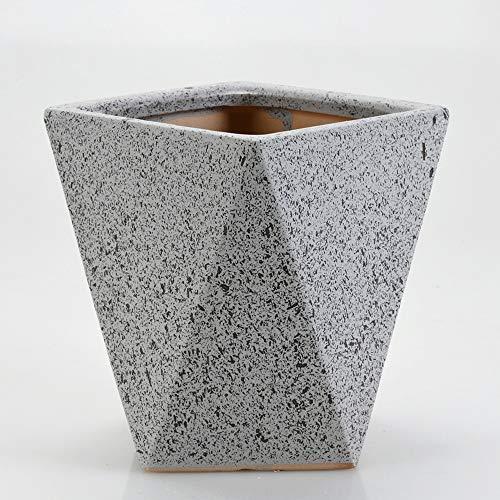 Thwarm Vintage Ceramica Vaso di Fiori Grosso Calibro Carne Vaso di Fiori Verde pianta piantatrice Indoor Contenitore Decorativo di Ceramica creativi Piccolo Bacino con Foro di Scarico
